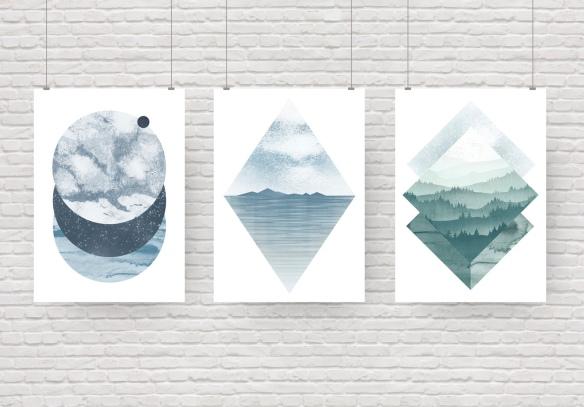 Set of 3 graphics